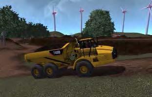 Articulated truck simulator