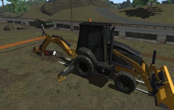 Backhoe simulator exercises