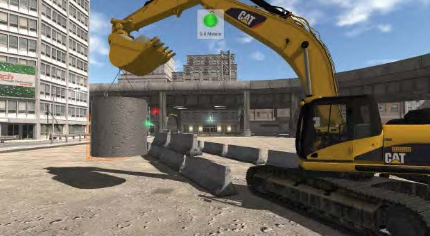 Excavator Simulator Training Exercise