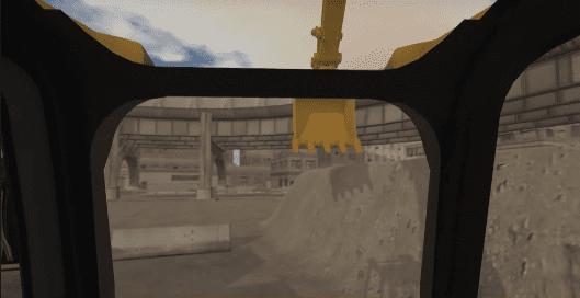 Excavator cab view