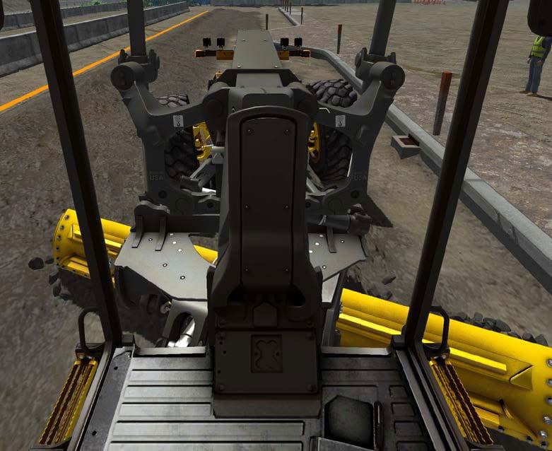 Motor Grader training cab view