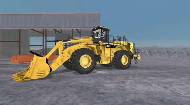 Large Wheel Loader in Simulator 1