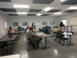 Next Gen Equipment Training classroom