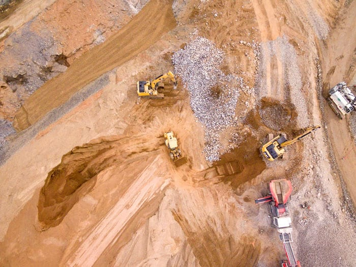 Drone View Construction Site