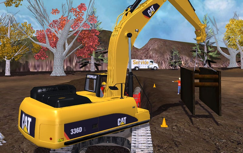 Excavator training exercises